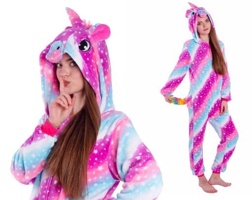 JEDNOROŻEC Galaxy Piżama Dzieci Kigurumi 146