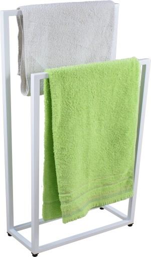 Wieszak, stojak na ręczniki Loft Biały Industrial