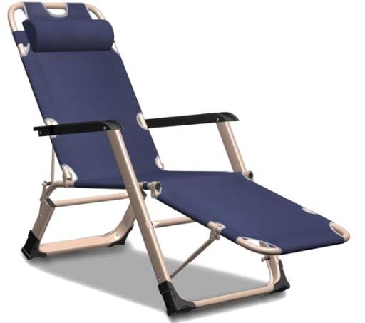 Leżak Fotel Ogrodowy Elegancki Składany Wzmocniony