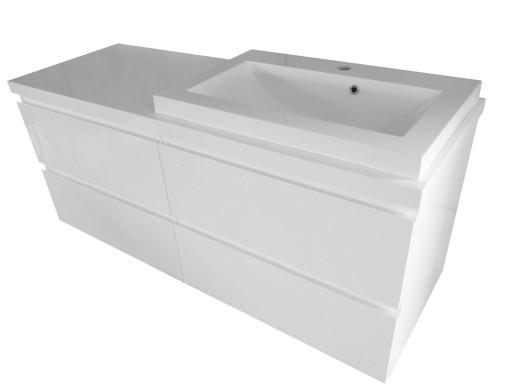Zestaw łazienkowy Szafka Z Umywalką 60 Blat 120 Cm 7731857378