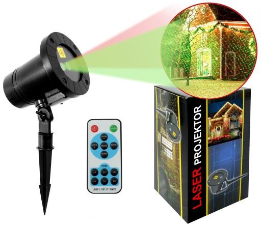 Projektor Laser Zewnetrzny Swiateczny Z Pilotem 8616835223 Allegro Pl