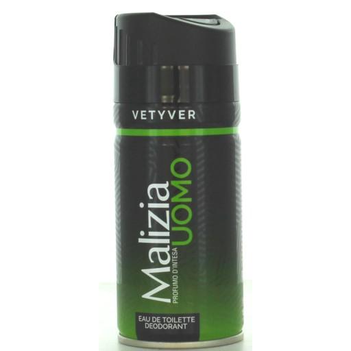 MALIZIA Uomo Vetyver dezodorant dla mężczyzn 150ml