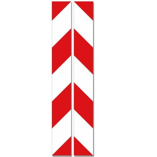TRANSFERS BELT WARNING WHITE - RED 5x40cm