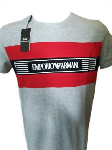 EMPORIO ARMANI EA7 KOSZULKA T-SHIRT Męski r.M 8217380995 Odzież Męska T-shirty KK PDKEKK-1