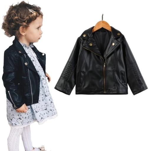Ramoneska kurtka dla dziewczynki 92 98 104 24h PL