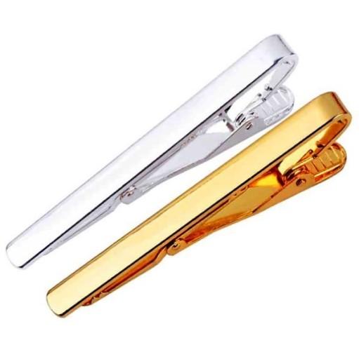 ELEGANCKA SPINKA do KRAWATA, złota lub srebrna