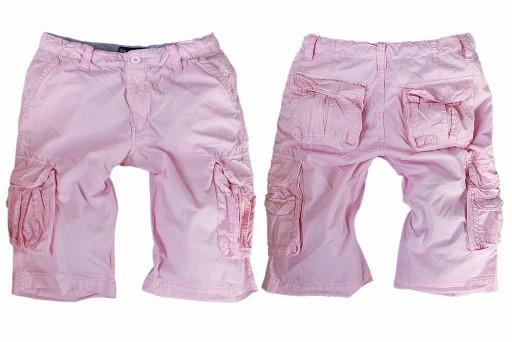 ENOS P9025 - szorty bojówki - różowe - rozmiar 32*