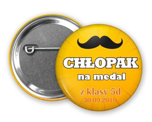 Przypinki Znaczki Dzien Chlopaka Imieniem Prezent 8484458844 Allegro Pl