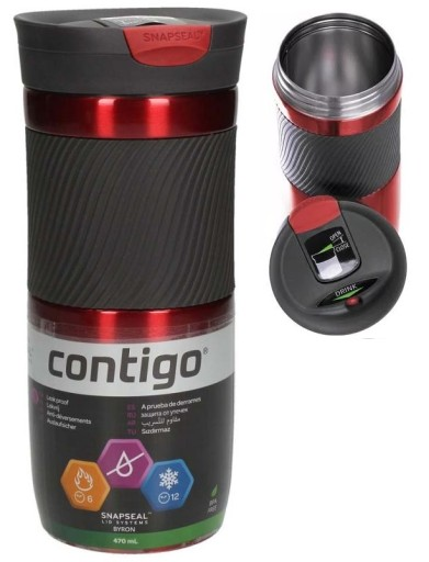 CONTIGO BYRON kubek termiczny termos RED 470ml