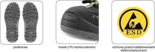 CXS SOLAR S1P sandały robocze KOMPOZYTOWE ESD 43 8959832749 Obuwie Męskie Męskie LA VCMMLA-8