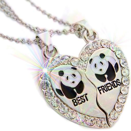Naszyjnik Wisiorek Przyjazni Best Friends Panda X2 8687514550 Allegro Pl