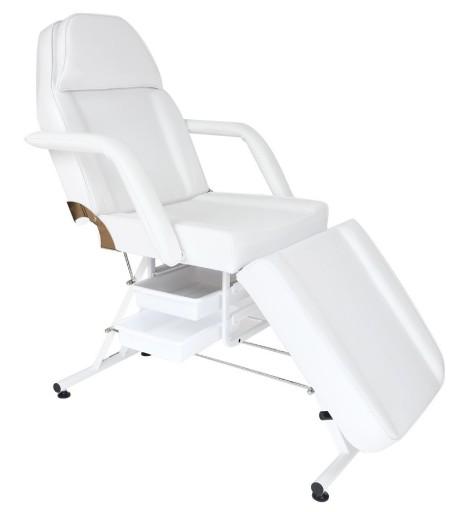 Fotel Kosmetyczny Z Kuwetami Leżanka Biały Jakość