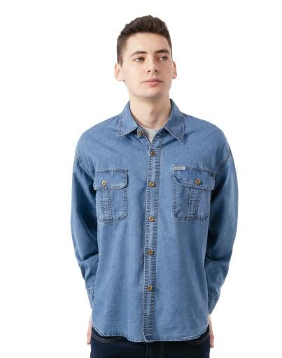 Koszula Męska Jeansowa Dżinsowa Jeans 8052 01 XXL 9022662900