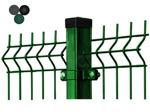 W Mega Kompletne ogrodzenia panelowe 153 cm kolor - 1 mb 6735910553 QQ97