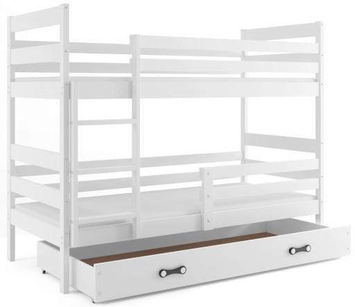 Łóżko JACEK piętrowe 190x80 dziecięce + BARIERKA