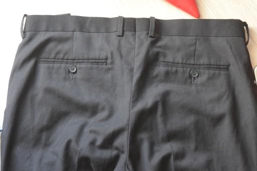 * H & M * SPODNIE ELEGANCKIE CZARNE _52 9536955273 Odzież Męska Spodnie AP SHKLAP-6