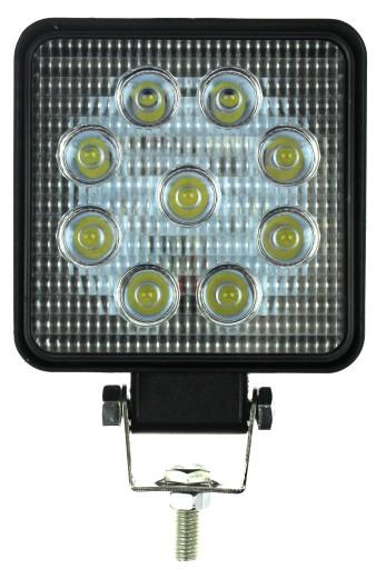 ZIBINTAS (LEMPOS-FAROS) 9 LED HALOGENAS VEIKIANTIS 27 W 2012M-24V LED KW