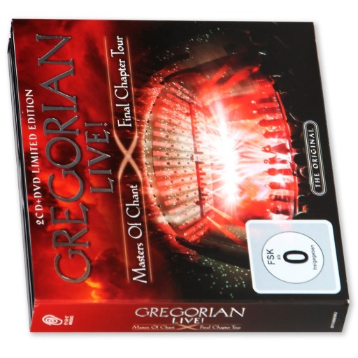 GREGORIAN LIVE MASTER OF CHANT 2 CD + DVD LIMITED