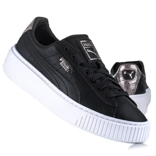 Sneakersy Damskie Puma Basket Platform Opulence Biały