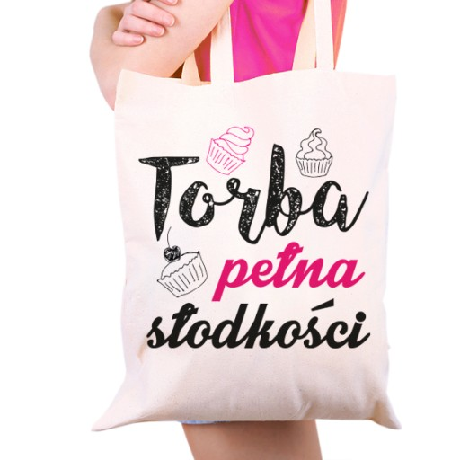 Eko Torba dla kobiety z nadrukiem na Dzień Matki