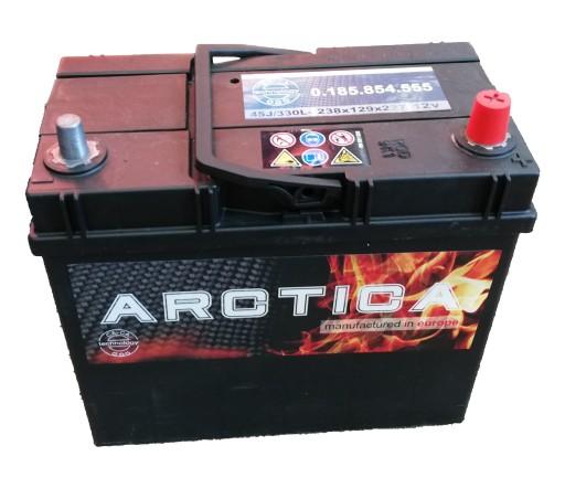 AKUMULIATORIUS Arctica 45Ah 330A HONDA SUZUKI TOYOTA