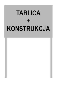 TABLICA INFORMACYJNA SZYLD REKLAMOWY 100x50 2 STR