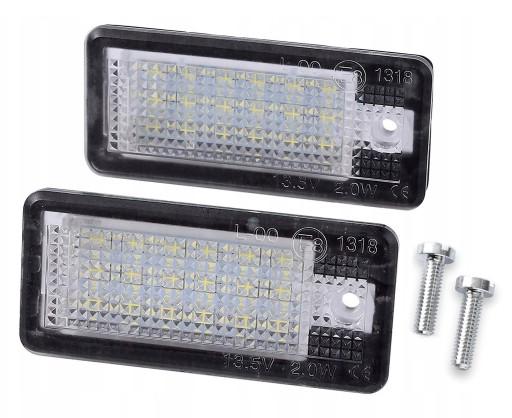 LAMPKI LED PODŚWIETLENIE Audi A4 B6 B7 A6 C6 A3 8P