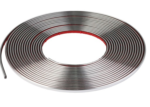 MOLDING DECORATIVE TAPE CHROMED CHROME 4mm 4 mm /1m