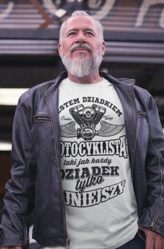 koszulka dla TATY i DZIADKA motocyklisty *TM02 XXL 8878848341 Odzież Męska T-shirty BV AZKABV-2