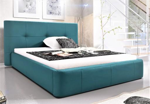 łóżko 200x200 Sypialniane Tapicerowane łoże Stelaż