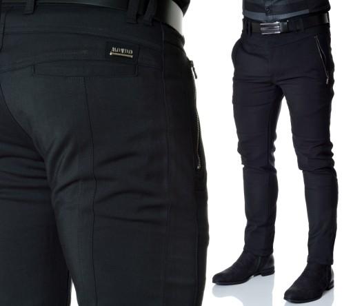 Spodnie Męskie Mondo Exclusive Jesień Casual Zamki 9732247861 Odzież Męska Spodnie XM IHLWXM-4