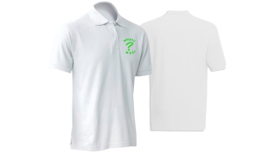 Koszulka polo z haftem własnego wzoru na sercu, logo, nadruk