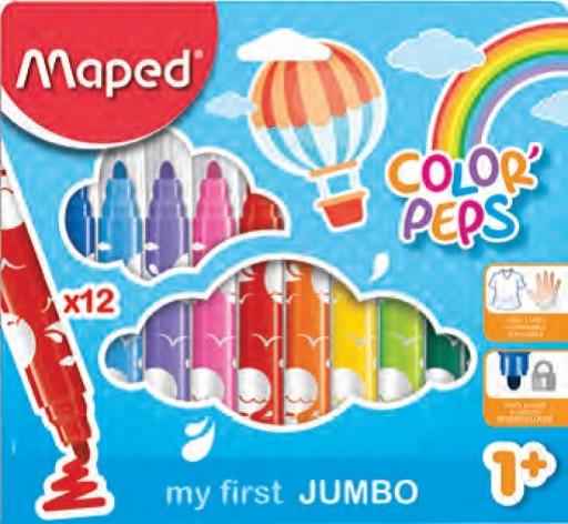 Pisaki Jumbo Maped Colorpeps 12 kol dla maluchów