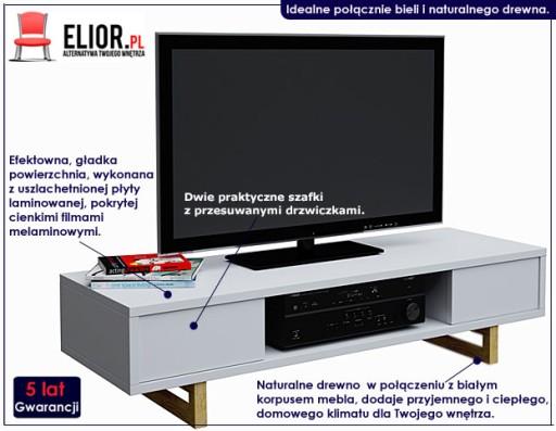 Szafka Regal Rtv Stolik Bialy Telewizor Meble Tv 5824964595 Allegro Pl