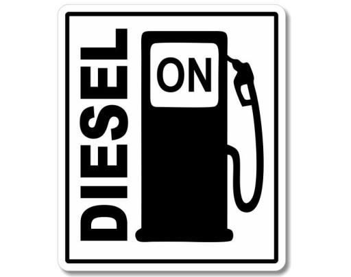 НАКЛЕЙКА ОТМЕЧАТЬ ТОПЛИВО fuel DIESEL ropa ON