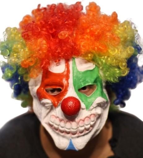 Maska Straszny Klaun Z Afro Klauna Z Zębami