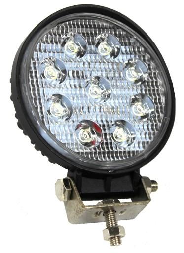 LAMPA ROBOCZA 9 LED OKRĄGŁA HALOGEN MEGA MOCNA