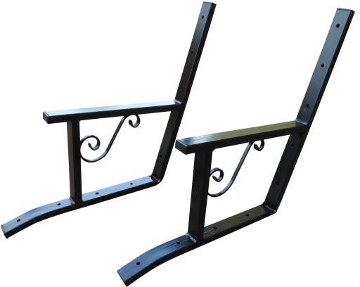 boki ławki ogrodowej