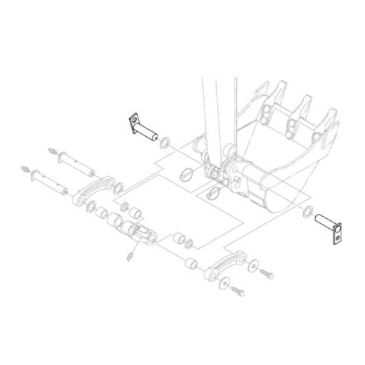 KUBOTA RG138-66764 HINGE SPOONS EXCAVATORS KX018