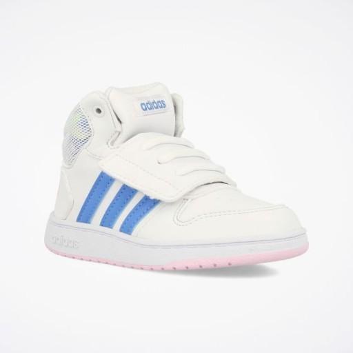 Białe Buty adidas Hoops Mid 2.0 I Jr EE8551 | Buty sportowe