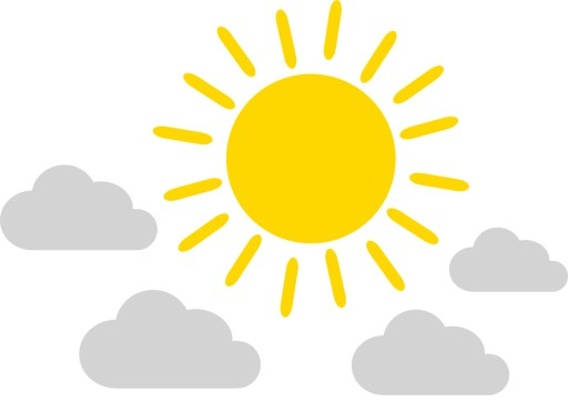 naklejki słoneczko obłoczki chmurki skandynawskie 7812408119 ...