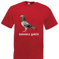 Koszulka dla hodowców gołębi z nadrukiem