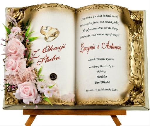 PAMIĄTKA ślubu PREZENT ślubny KARTKI ślub PREZENTY