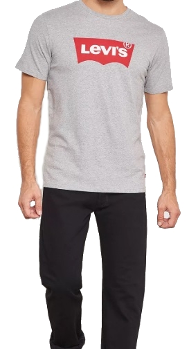 LEVI'S T-SHIRT KOSZULKA MĘSKA SIWA BAWEŁNA XL 8991126598 Odzież Męska T-shirty KD RXPWKD-7