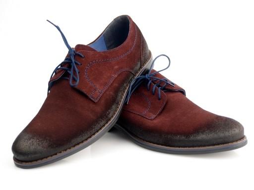 HUSAR męskie buty zamsz Nikopol PL1687 bordo 43 8320874319 Obuwie Męskie Męskie LL YMYHLL-9