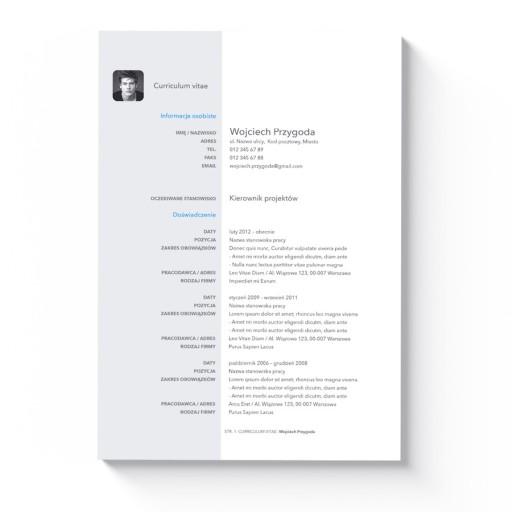 Nowoczesny Szablon Cv List Motywacyjny Ms Word 7304859248 Allegropl