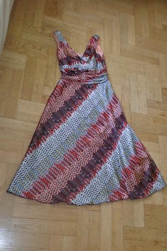 sukienka atłas MONNARI roz 34 stan bdb cze