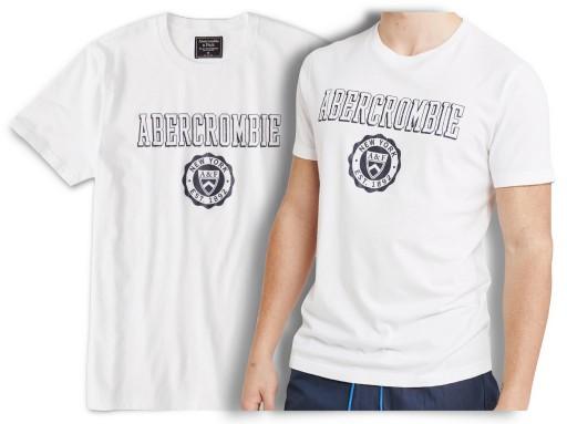 ABERCROMBIE Hollister T-shirt Koszulka Logo USA L