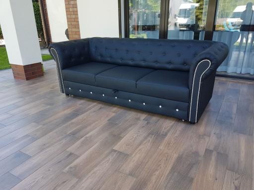 Sofa Pikowana Chesterfield Z Cwiekami Krysztalkami 7528860091