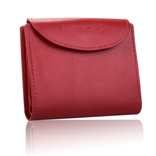 Skórzany portfel damski Garbarnia Praska mały RFID